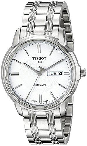 Tissot Men's T0654301103100 Automatic III Swiss Automatic Silver-Tone Stainless Steel (Swiss Eta 2836 2 Automatic)