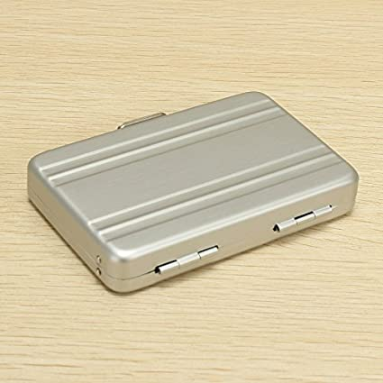 VIDOO Aluminio Comercial Tarjetas De Crédito Caja Mini ...