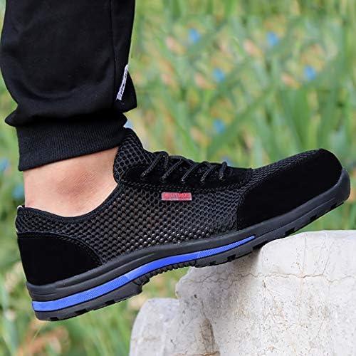 作業靴 軽量で快適な男性と女性のカジュアルシューズ作業安全靴鋼のつま先キャップ通気性メッシュ表面抗ピアス労働保険靴夏通気性消臭保護滑り止め耐摩耗作業靴 安全靴 (色 : B, サイズ さいず : 38)