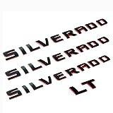 black silverado letters - Yoaoo 3pcs OEM Silverado Nameplate Plus LT Letter Emblems 3D Badge 1500 2500HD 3500HD Original Silverado series Red Line Redline