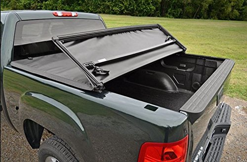 - Autobotusa Tri-Fold Soft Black Truck Bed Tonneau Cover for 2004-2014 Ford F150 / Lincoln Mark LT Styleside 6.5 Ft Bed