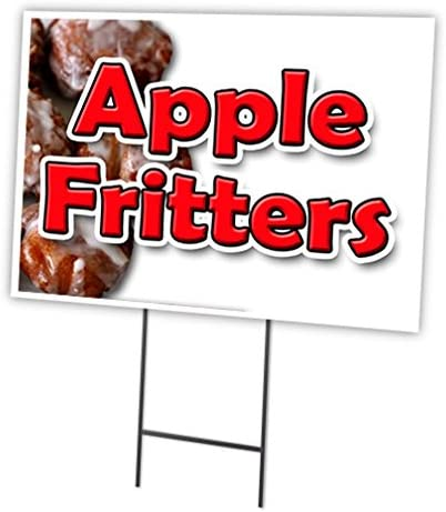 APPLE FRITTERS Yard Sign /& Stake outdoor plastic coroplast window