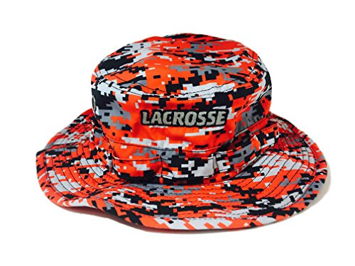 d8aafc4b Lacrosse Digital Camo One Size Lax Bucket Hat 100% Polyester, soft and  light feel (Red)