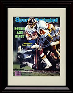 Framed John Riggins Sports Illustrated Autograph Replica Print - 2/7/1983