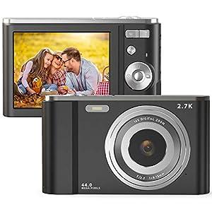 FamBrow Appareil Photo Numérique Rechargeable 2.7K UHD 44 Mega Pixels 2,88 Pouces 16X Zoom Appareils Photo Compact pour…
