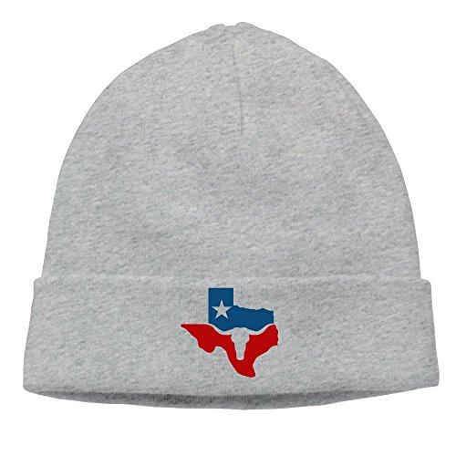 Unisex Texas Longhorn Flag Winter Beanie Hat Skull Cap