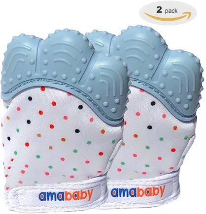 2 Pack Baby Teething Mittens - Self Soother Teething Aid - Safe Non Toxic...