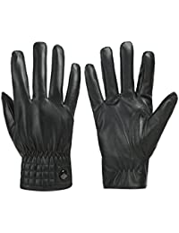 Men's Gloves Waterproof Touchscreen Thick Gloves Keep Warm in Winter Outdoor Black