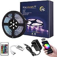 Led Strip Light RC LED Streifen 16.4ft RGB WIFI Strip 5050 led lichtband Millionen Farben Smart Light Musik...
