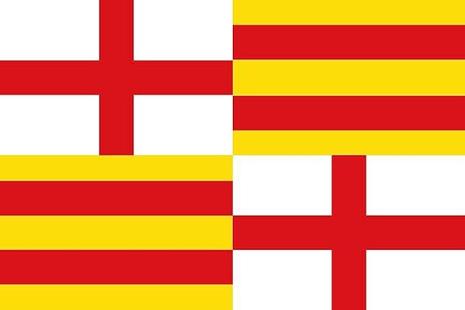 magFlags Bandera Large Antigua Bandera de Barcelona de Dos Barras ...