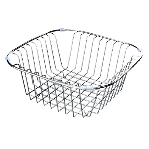 Dish drain rack, sink rack fruit drain basket stainless stee