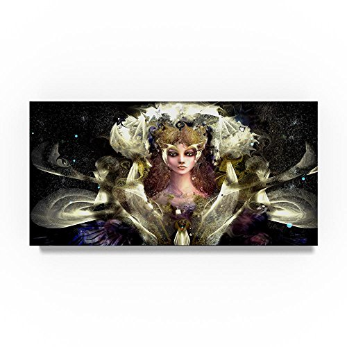 Girl With Yellow Eyes by RUNA, 24x47-Inch Canvas Wall Art by Trademark Fine Art