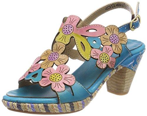 Laura Vita Belfort 91, Women's Heels Sandals Turquoise (Turquoise Turquoise)