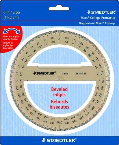 Staedtler Protractor 6 360 Degrees, 56880-15BK by Staedtler