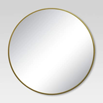 e42abf115f16 Amazon.com  Round Decorative Wall Mirror Brass - Project 62  Home   Kitchen