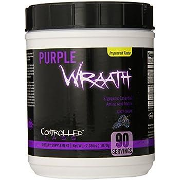 Controlled Labs Purple Wraath, Ergogenic Essential Amino Acid Matrix, 90 Serving, Juicy Grape, 2.35-Pound Tub
