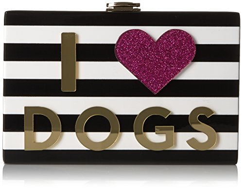 MILLY I Heart Cats/Dogs Box Clutch, Multi by MILLY