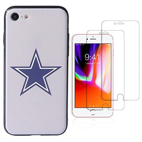 Sportula NFL Phone Case for iPhone 7/iPhone 8 (4.7), Give 2 Premium Screen Protectors Extra Value Set (Dallas Cowboys)
