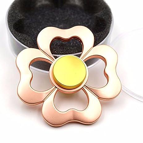 Fidget Spinner Rainbow Flower Hand Spinning Toy 3D Bauhinia 3 5 Mins Spin Metal