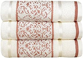 Toalha de Banho Karsten Amber - Fio Penteado - Gramatura: 500g/m² Branco/Rosa