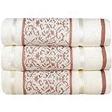 Toalha de Banho Karsten Amber - Fio Penteado - Gramatura: 500g/m² Branco / Rosa