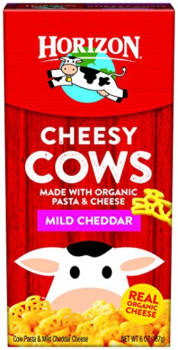 Horizon Organic Classic Mac Cheese, Pasta Cows and Mild Cheddar, 6 Ounce