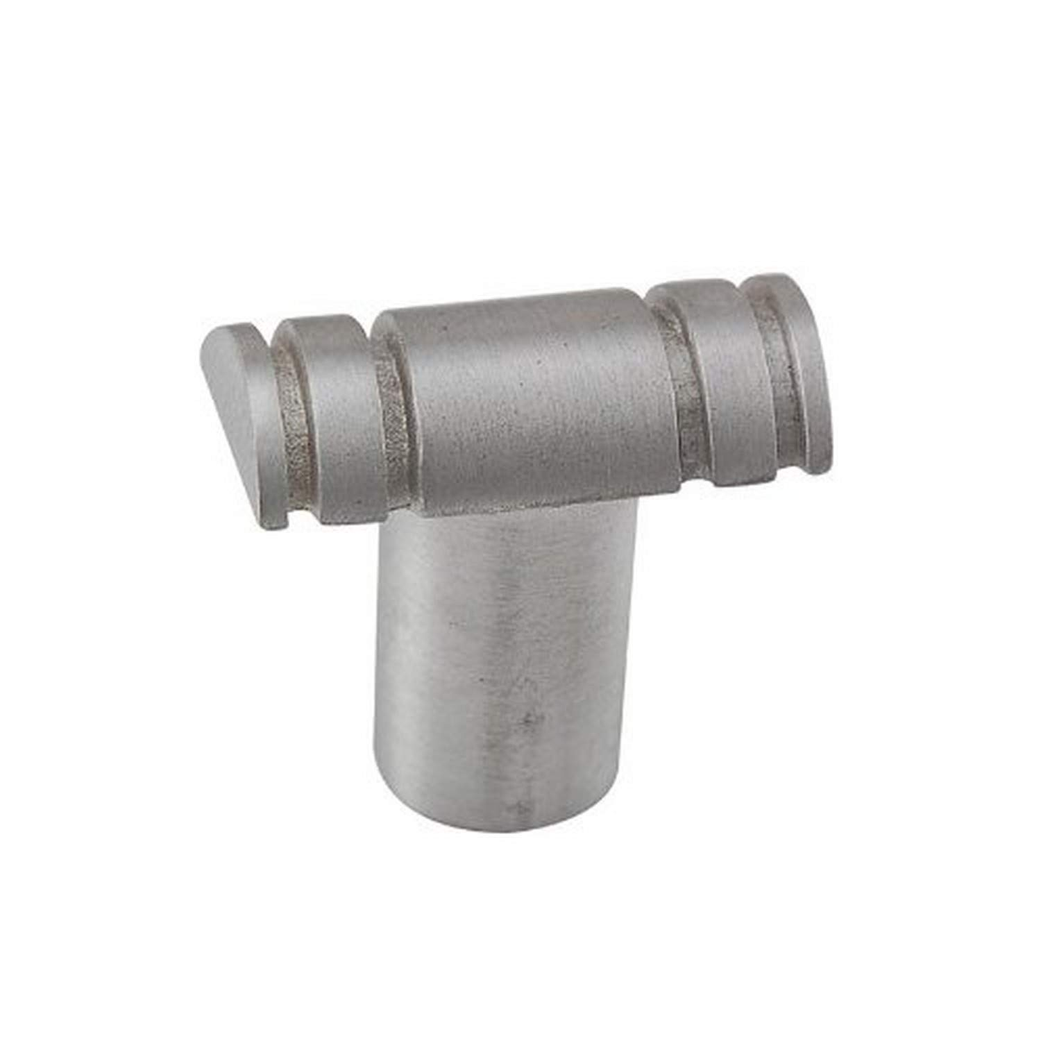 Satin Nickel Vicenza Designs K1331 Archimedes Knob with Lines Small