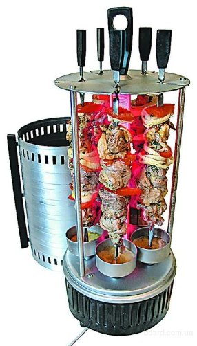 Amazon.com: Electric Grill Kebab Tabletop Indoor Barbeque Shashlik ...