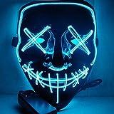 Halloween Scary LED Máscara De Disfraces Para Fiesta Del Festival,Blue