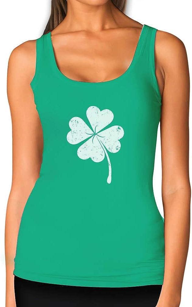 St Patricks Day Lucky Charm Clover Women Tank Top
