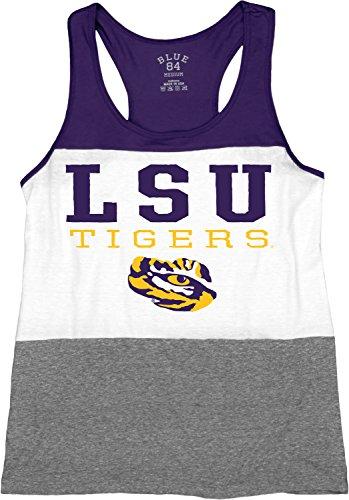 Blue 84 NCAA LSU Tigers Tri-Blend Panel Tank Top, Purple, Medium ()