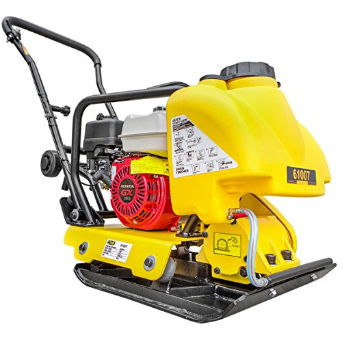 STKUSA 5.5 HP Gas Vibration Plate Compactor Engine Walk Behind Tamper Rammer Water Tank Industry, Powered by Honda Engine