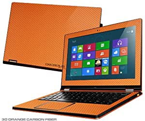 """Decalrus Orange Carbon Fiber Skin for Lenovo Yoga 13 with 13.3"""" screen (IMPORTANT Note: Compare your laptop to """"IDENTIFY"""" image on this listing for correct model) case cover CByogaORANGE"""