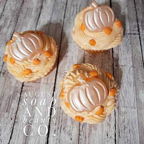 Pumpkin pie cupcakes. Pumpkin pie soap cupcakes. Whipped soap cupcakes. Fall bath cupcakes. Bath cupcakes. Fall cupcakes.: Handmade