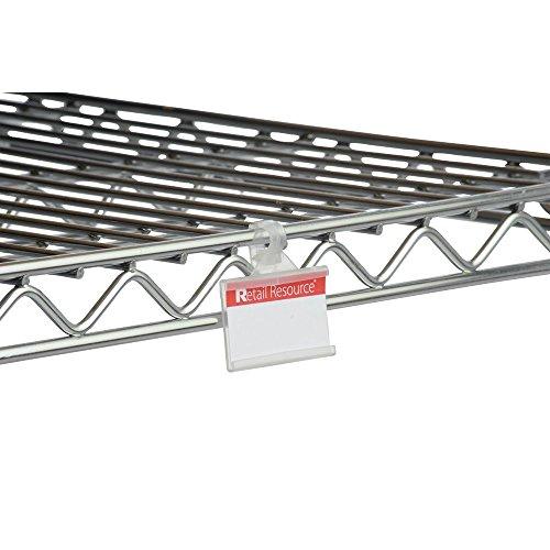 (Retail Resource 1227087103 Wire Shelf Label Holders 3