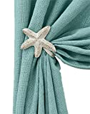 Born to Fish Shower Curtain Pair of Starfish Curtain Tie Backs (Starfish 5