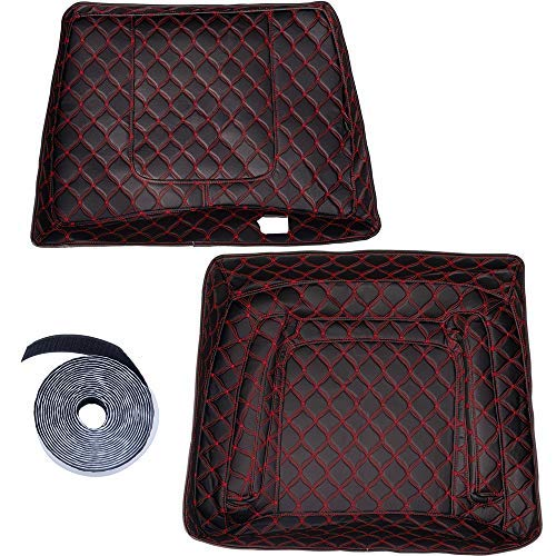 (US STOCK! Advanblack Red Thread Stitching King Tour Pack Liner Touring-Pak Inserts Fit for Harley Touring Street Glide Road Glide Electra Glide Ultra Classic Advanblack King Touring Bag)