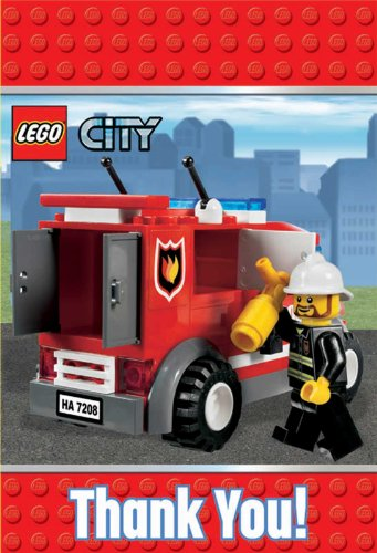 LEGO City Thank You Notes w/ Env. (8ct) (Lego Halloween Costumes)