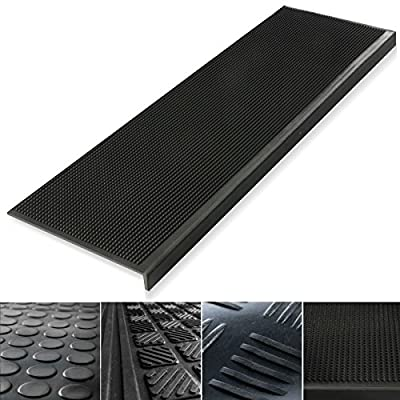Set of 5 Indoor & Outdoor Rubber Non-Slip Stair Treads