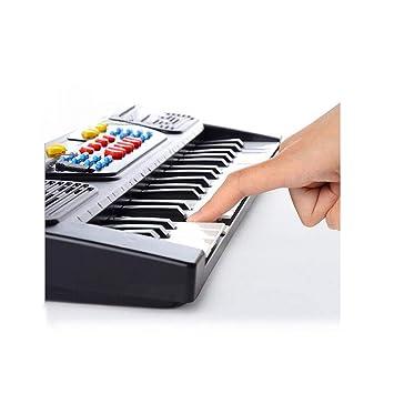 Música de iluminación, piano de teclado de carga, 37 teclado de micrófono multifunción a nivel de puerta tipo teclado con micrófono: Amazon.es: Instrumentos ...