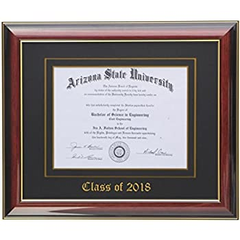 Amazon.com - Diploma Frame 10x8 Mahogany/Black 2018 (Customizable) -