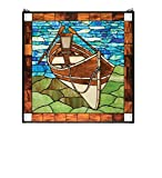 """Meyda Tiffany 21440 Beached Guideboat Stained Glass Window, 26"""" W x 26"""" h offers"""