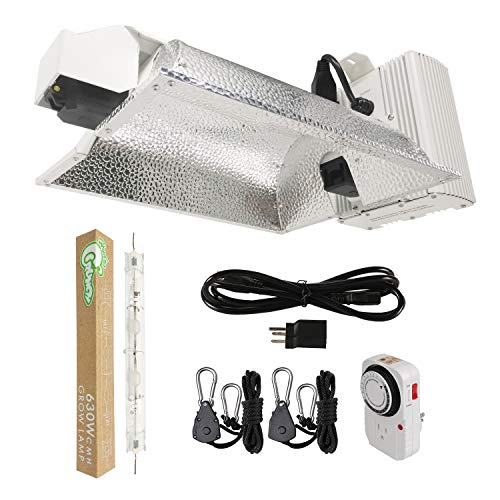 Hydro Crunch 630-Watt CMH Double Ended DE Ceramic Metal Halide Enclosed Style Complete Grow Light System with Lamp