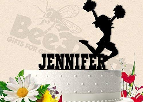 Awesome Amazon Com Cheerleader Girls Birthday Party Cake Topper Personalised Birthday Cards Veneteletsinfo
