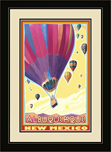 Northwest Art Mall Albuquerque New Mexico Hot Air Balloons Framed Wall Art by Joanne Kollman, 13 by - Malls Albuquerque