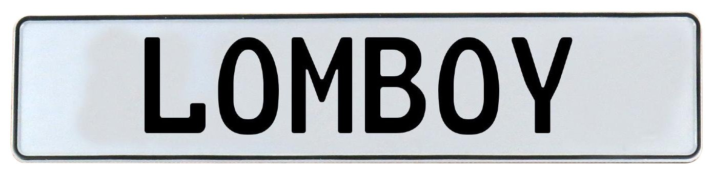 Vintage Parts 682740 Lomboy White Stamped Aluminum Street Sign Mancave Wall Art