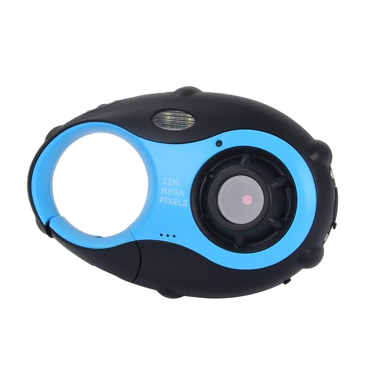 SHENGY Kinder Digitalkamera 12MP 1,5-Zoll-HD-Bildschirm Schlüsselanhänger Mini-Kamera leichte Drop Drop Kinder Jungen und Mädchen Geschenke,Blue