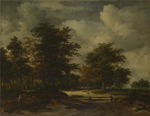'Jacob Van Ruisdael A Road Leading Into A Wood ' Oil Painting, 18 X 23 Inch / 46 X 59 Cm ,printed On Perfect Effect Canvas ,this High Quality Art Decorative Canvas Prints Is Perfectly Suitalbe For Nursery Artwork And Home Gallery Art And Gifts - Snail Costume On Road