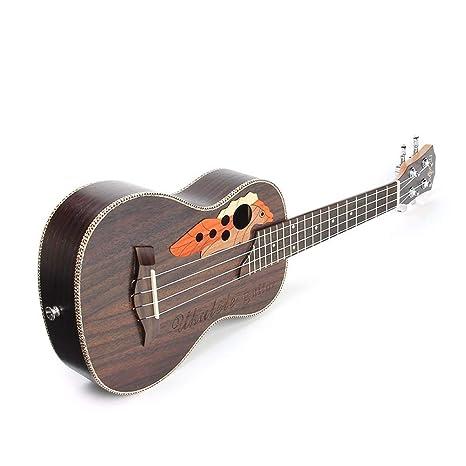 Guitarra de ukelele de madera de palisandro con cuatro cuerdas de ...