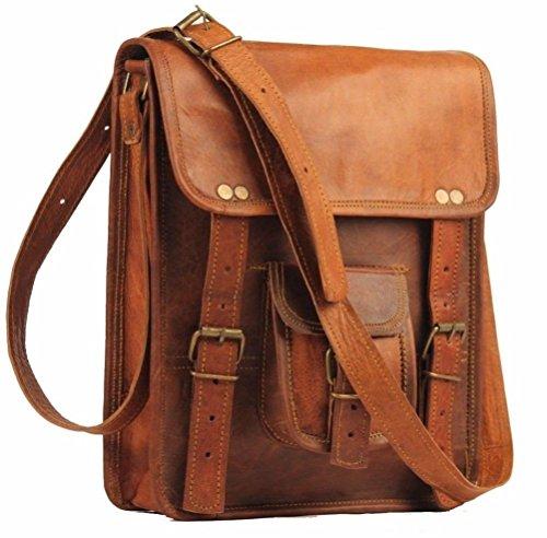 Shakun Leather Vintage Genuine Luggage Messenger Bag Cross Body, One Size, NEW